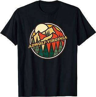 Vintage Adwolf, Virginia Mountain Hiking Souvenir Print T-Shirt