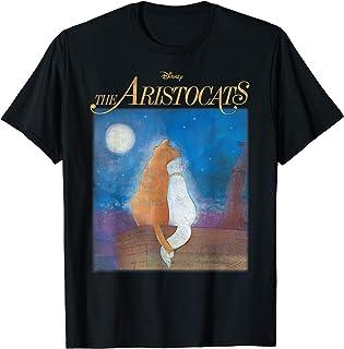 Disney The Aristocats Duchess & Thomas Night Sky Portrait Maglietta