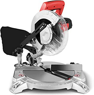 Goplus 8-Inch Compound Miter Saw, Single Bevel Miter Saw with 0-45° Left Bevel Range, 5500RPM, 11 Amp 1400W Motor, with 24 Teeth Saw Blade and Dust Bag