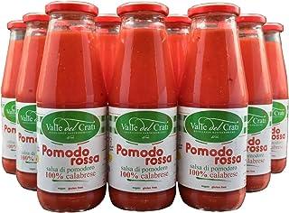 36 Bottiglie Salsa Di Pomodoro Calabrese Naturale Italiano Valle Del Crati Passata Di Pomodori Senza Glutine Prodotto Vega...