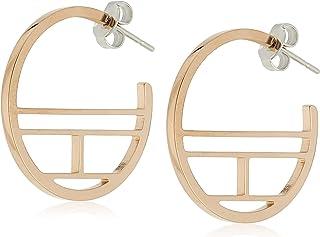 TOMMY HILFIGER WOMEN'S IONIC PLATED CARNATION GOLD STEEL EARRINGS -2780330