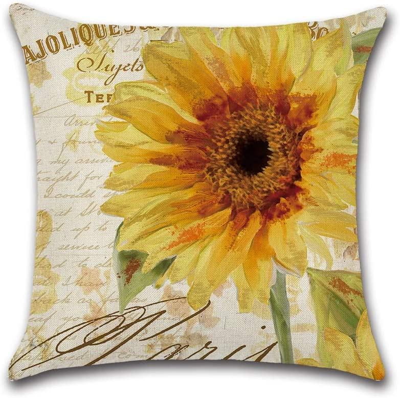 Ranking TOP19 HXF- Cushion Cotton Comfortable Theme Sunflower Series Material Overseas parallel import regular item