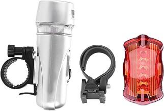 YIFengFurun Koplamp Zaklamp,5led Front Light + Vlinder Achterlicht Set Fiets Mountainbike Voor Outdoor Camping Fietsen Run...