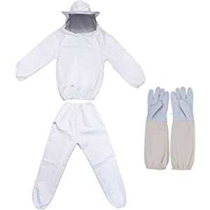 Beekeepers Bee Suit Veil Beekeeping Protective+Gloves Safety Premium Quality XL