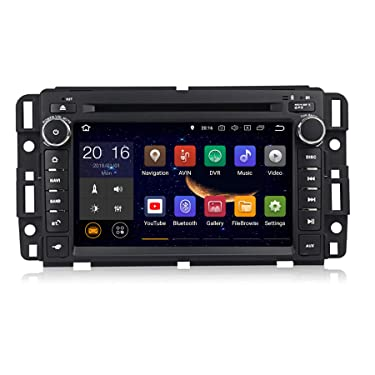 Android 10.0 Car Radio 7 inch Double Din Touch Screen DVD Player for GMC Chevy Silverado 1500 2012 in Dash Navigation Quad Core in Dash Touchscreen FM/AM Radio Head Unit