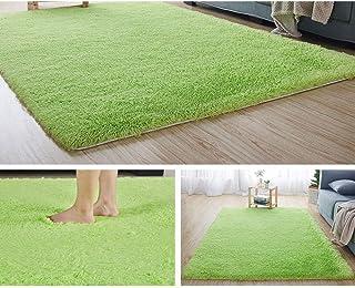 Tapis à Poils Longs, Poils Longs, pour Salon, Facile d'entretien,Fruit Vert épaissi,Taille120×160cm
