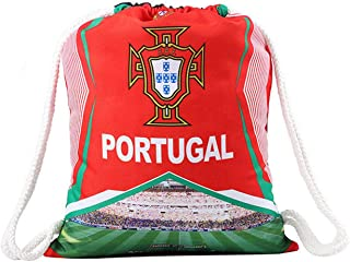 World Cup Printed Drawstring Backpack Football Fan Backpack Portugal