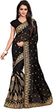 Saree for Women Indian Ethnic Sari in Black Georgette