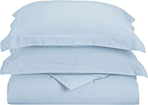 طقم غطاء لحاف فائق النعومة مصنوع من ألياف دقيقة ناعمة بنسبة 100%، توأم/مفرد XL، أزرق فاتح