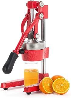 CO-Z Commercial Grade Citrus Juicer Hand Press Manual Fruit Juicer Juice Squeezer Citrus Orange Lemon Pomegranate (Red)