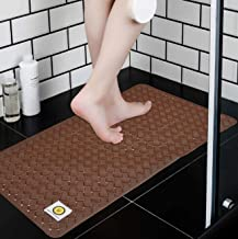 Yellow Weaves™ Non Slip PVC Bath/Shower mat with Anti Slip Suction Cups, 14 X 27 Inches
