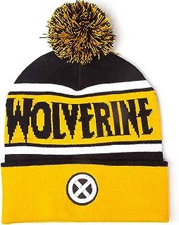 1be7f2b1f16 Marvel Wolverine Beanie Bobble Hat X Men Logo Official Yellow