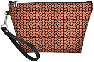Zipper Multifunction Pouch Purse Case Bag Organizer,Tropical Fruit Pattern with Vivid Ripe Berries Healthy Sweet Summer Fresh Food,Travel Cosmetic Ttoiletry Wallet Card Holder Pen