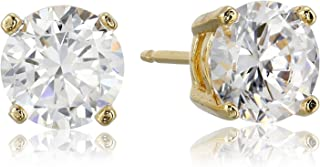 Plated Sterling Silver Cubic Zirconia Stud Earrings...