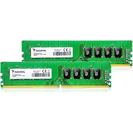 ADATA DDR4-2666MHz CL19 288Pin Unbuffered DIMM デスクトップPC用 メモリ 8GB×2枚 AD4U266638G19-D
