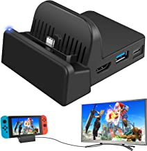 Ponkor Docking Station for Nintendo Switch, Charging Dock 4K HDMI TV Adapter Charger Set Replacement compatible with Offic...