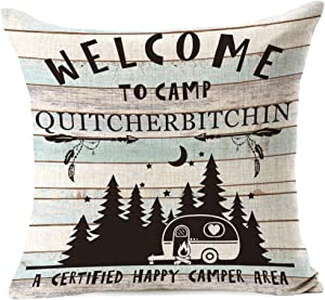 963RW A Happy Camping Approved Site Pillow Cover, Best Gift for Family Campsite Adventure Keepsake, Campground Trip, Retirement Travel Lover. for Home Sofa Bedroom