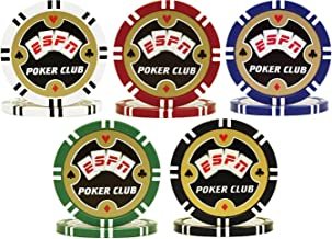 ESPN Poker Club Championship Poker Chip Sample Set - 5 New Chips