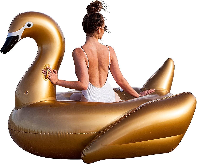 gran selección y entrega rápida Hamaca inflable portátil portátil portátil de piscina Asiento inflable de los flotadores de la piscina del PVC para los Niños adultos Niños Muchachas de los muchachos flotan la forma del cisne del juguete Vegetales Púr  gran descuento