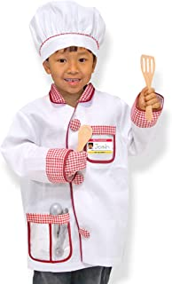 "Melissa & Doug Chef Role-Play Costume Set (Pretend Play, Materials, Machine-Washable, 17.5"" H x 24"" W x 0.75"" L, Great Gift for Girls and Boys - Best for 3, 4, 5, and 6 Year Olds)"
