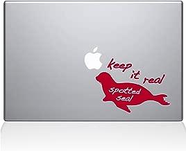"""The Decal Guru Keep It Real Spotted Seal MacBook Decal Vinyl Sticker  - 12"""" Macbook - Red (1111-MAC-12M-DR)"""