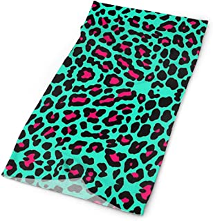 Wfispiy Cheetah Mint Green Leopard Unisex Variety Scarf Wrap Bandanna Headwear Neck Gaiters Head Scarf Face Masks