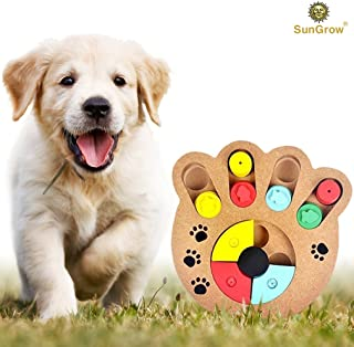 Unique Shuffle Puzzle Smart Toy for Puppies by Improve Concentration : Reduce hyperactivity : Fun Interactive IQ Game to Hide Treats in : Encourage Mental & Physical Skills of Pets