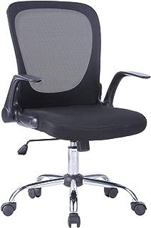 LIANFENG Mid Back Mesh Office Desk Task Chair (Black-1)