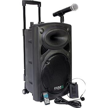 IBIZA VHF2H 2-KANAL FUNKMIKROFONSYSTEM HANDMIKROFON UND HEADSET PARTY DISCO MUSIK EVENT DJ B/ÜHNE SOUND LAUTSPRECHER CLUB REDE THEATER