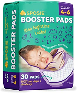 Sposie Booster Pads Diaper Doublers, 30 Pads – for Overnight Diaper Leaks, No..
