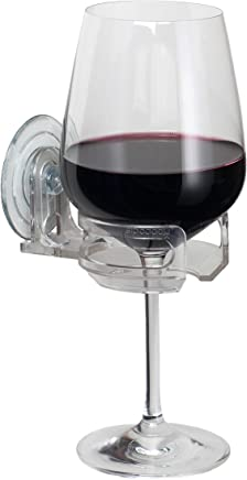 SipCaddy Bath & Shower Portable Cupholder Caddy for Beer & Wine Suction Cup Drink Shower Beer Holder, Clear