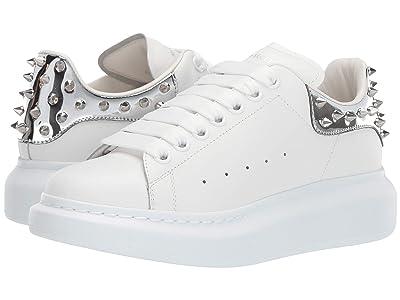 Alexander McQueen Oversized Sneaker (White/Platinum/Silver) Women