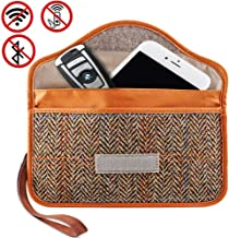 Phone Signal Faraday Blocking Brown Wallet Cage and Car Key Fob RFID Blocker Large Bags for Keyless Entry Remote