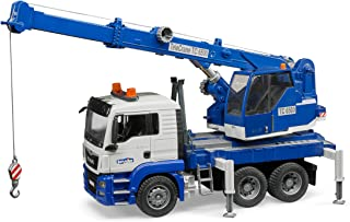 Bruder MAN TGS Crane truck with Light and Sound Module, Blue/Grey, 3770