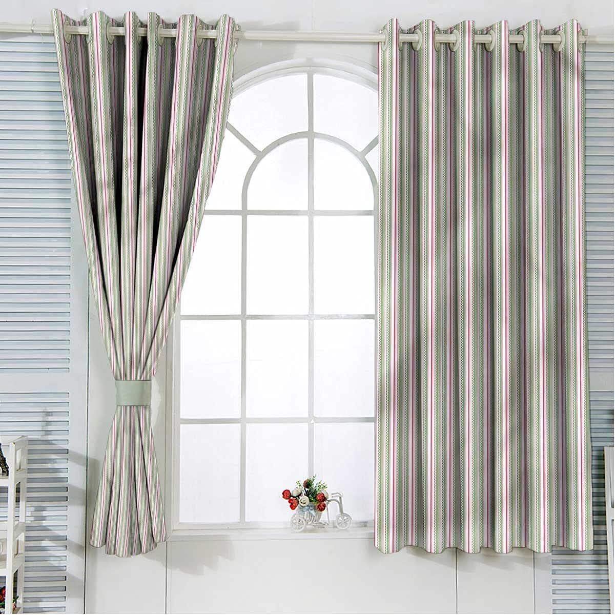 Easter Insulated Popular trust overseas Curtains 96 Inch Length Zig Colorful Stripes Za