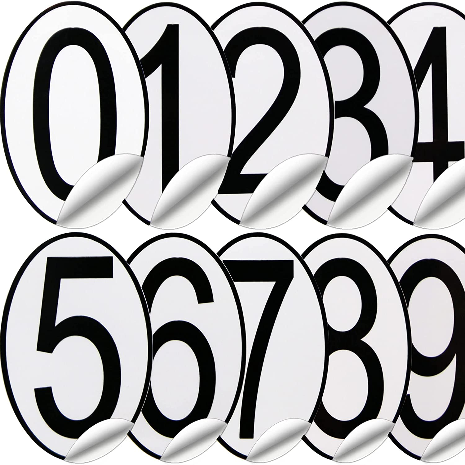Max 80% OFF 200Pcs Super special price Mailbox Numbers 3In for Number Outside