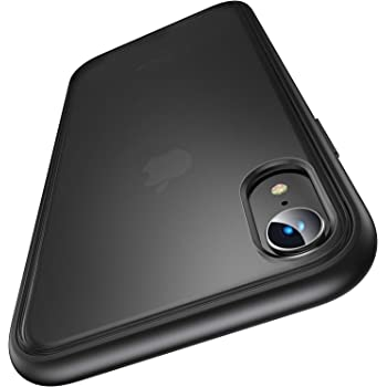 【Humixx】iPhone XR ケース 米軍MIL規格取得 耐衝撃 半透明 マット加工 黄ばみなし レンズ保護 ワイヤレス充電対応 XR ケース iPhone XR カバー[Shockproof Series] (マット・ブラック)