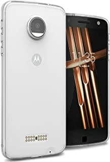 Motorola Moto Z Case Cover, CoverON, Clear Back Panel, Clear