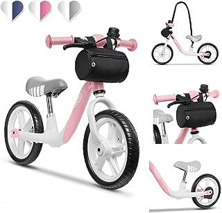 Lionelo Arie balanscykel barn cykel upp till 30 kg sadel och styre justerbar handbroms 30 cm Eva skumhjul metallram fotstö...