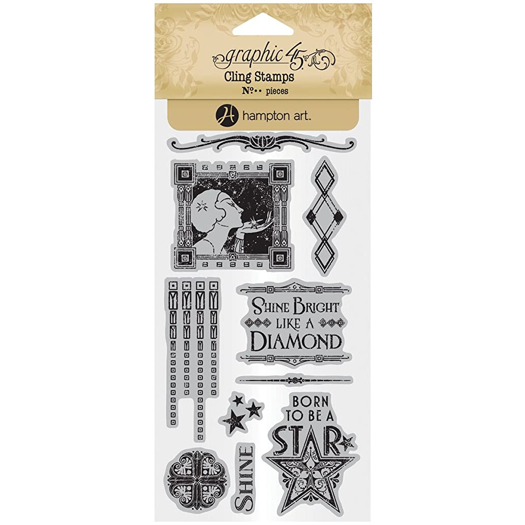 Graphic 45 Vintage Hollywood Cling Stamp Set 2 of 3