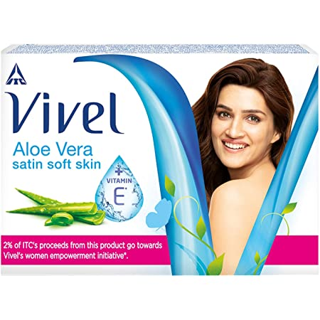 Vivel Aloe Vera Bathing Soap with Vitamin E for Soft, Glowing skin|Refreshing Fragrance|Combo Pack 150g (Pack of 4)