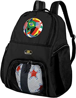Broad Bay Soccer Soccer Backpack or World Cup Fan Volleyball Bag