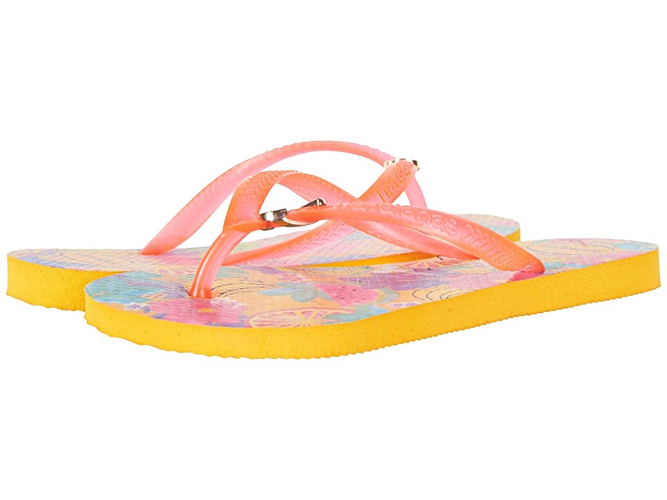 Havaianas Kids Slim Summer Flip-Flop (Toddler/Little Kid/Big Kid) (Banana Yellow) Girls Shoes