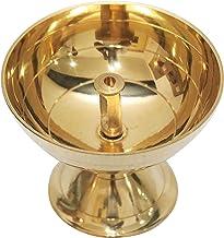 Shubhkart Handmade Indian Brass Pyali, Oil Lamp Diya Small