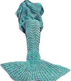DDMY Mermaid Tail Blanket Crochet Mermaid Blankets Seasons Warm Soft Handmade Sleeping Bag Best Birthday for