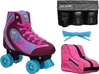 New! Epic Cotton Candy Quad Roller Skate 4Pc. Bundle w/Bag & Safety Pads