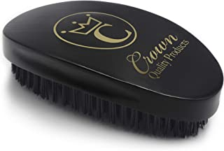 Crown Quality Products 360 Gold Ceaser Wave Brush # 7760 (Black)