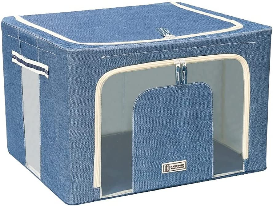 Mail Quantity limited order cheap JKCK Oxford Cloth Clothes Steel Frame Stor Toy Quilt Storage Box