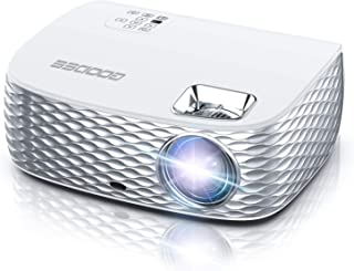 Projector, GooDee HD Video Projector Native 1920x1080P, Outdoor Movie Projector 7000L Touch Keys Home Theater Projector with 50,000 Hrs Lamp Life, Compatible with Fire TV Stick, PS4, HDMI,iOS /Android