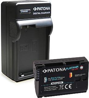 PATONA 3en1 Cargador + Platinum Batería EN-EL15 Compatible con Nikon D7000 D7100 D7200 D7500